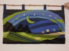 Hand-woven tapestry.