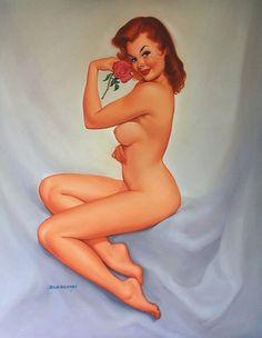 Desnuda   Baron von Lind   Classic Pin-Up girl #Pin-Ups #Girls #USA #deFharo #Vintage #Posters #Retro