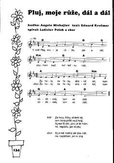 Píseň - noty Sheet Music, Music Sheets
