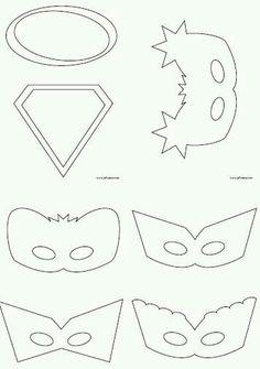 Superhero Masks To Decorate Superhero02  Super Hero Masks Masking And Hero