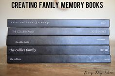 Creating family memory books - http://jennycollier.com/?p=11108