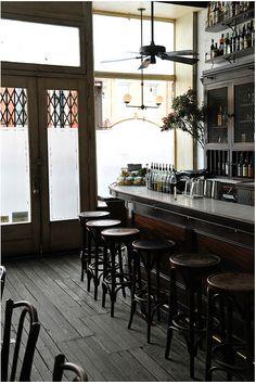 Hotel Delmano in Williamsburg, Brooklyn. Drinks + order the ricotta.