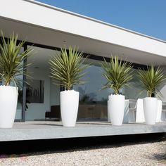 Elho Pure Soft Round High 40 - Flowerpot - White - Indoor & Outdoor - Ø 39 x H cm