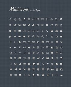 Mini #Icons, #Free, #Graphic #Design, #Icon, #PSD, #Resource