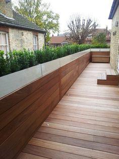 Iroko wall cladding & deck