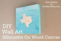 Silhouette On Wood Canvas DIY