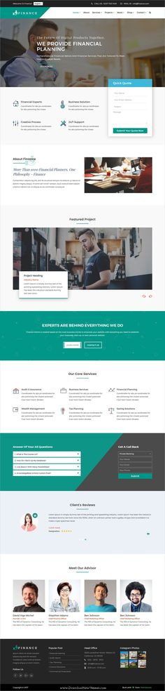 Finance is clean and modern design 2in1 responsive #bootstrap template for professional #consulting and #corporate website download now..