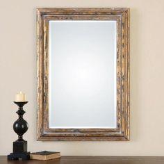 Uttermost Davagna Gold Leaf Mirror - 28W x 40H in. - 12896