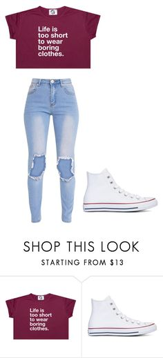 """Untitled #284"" by thenerdyfairy on Polyvore featuring Converse"