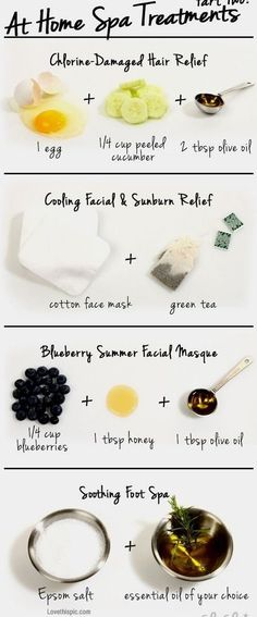 Easy DIY At Home Spa Treatments. Try more at http://bellashoot.com