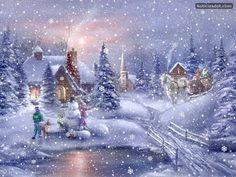 Images of merry christmas with beautiful landscape - Bellos paisajes de navidad