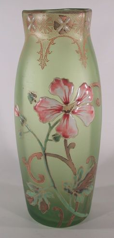 Legras Art Glass Vase Circa 1910: