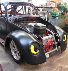 Supercharged Subaru powered VW drag racing beetle