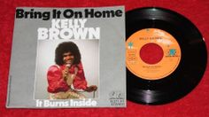 "KELLY BROWN - Bring it on home + It burns inside - Vinyl 7"" Single - Jupiter"