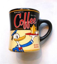 "Mickey's Coffee Mug/Cup Disney Blend Theme Perks - Mickey Mouse - ""Really Swell"". Coffee Tin, I Love Coffee, Coffee Cups, Disney Coffee Mugs, Disney Cups, Pug Mug, Teapots And Cups, Teacups, Disney Kitchen"