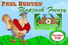 """Paul Bunyan in """"Flapjack Frenzy"""" - Video Story for Tall Tales studies http://animatedtalltales.com/webisodes/517-paul-bunyan-in-flapjack-frenzy"""