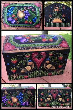 Rosemary West, Artist Painting, Painting Inspiration, Folk Art, Decorative Boxes, Country, Design, Folklore, Wood