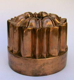 French or English Copper Dessert Mold. Circa 1860-1870.