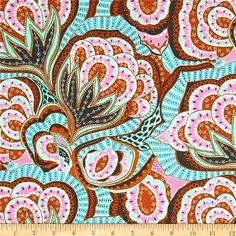 COUPON Code Sale - Amy Butler, Hapi, Oasis, River, Floral Fabric, Rowan Westminster, 100% Cotton Quilt Fabric, Quilting, SELECT A SIZE