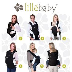Lillebaby Complete Airflow (Mesh) Carrier-Positions