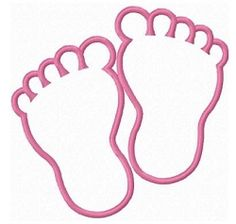 The baby feet applique is perfect for baby showers and new baby crafts! Deco Baby Shower, Baby Shower Themes, Baby Boy Shower, Baby Shower Decorations, Learn Embroidery, Machine Embroidery Patterns, Applique Patterns, Embroidery Applique, Applique Designs