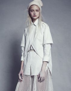 Layered look with a sports luxe edge #white #sportsluxe