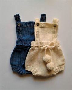 PDF Knitting Pattern Ember Baby Romper Dress and Bonnet Baby Knitting Patterns, Baby Clothes Patterns, Baby Patterns, Bonnet Hat, Bonnet Pattern, Dk Weight Yarn, Romper Dress, Baby Dress, Culottes
