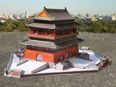 Gulou Beijing Drum Tower - Papercraft4u   Free Papercrafts, Paper Toys, Paper Models, Gratis