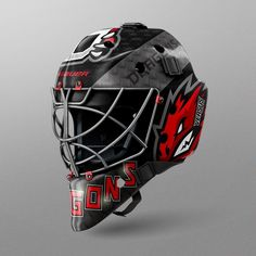 everything going well on this awesome mockup. both side looks plain on front view . but when use Goalie-mask-Side View it Looks Perfect Hockey Goalie Pads, Hockey Helmet, Ice Hockey, Helmet Design, Mask Design, Sports Templates, Mockup Templates, Nhl, American Games
