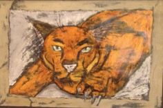 """Rock, The Cougar"" by Hailey Prophet from the Westbury Christian School art program. #ArtColony #HouArtFest"