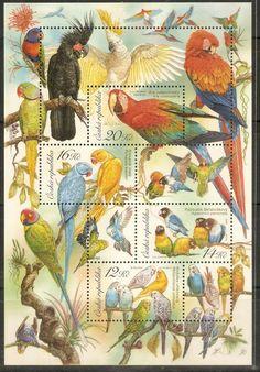 beautiful bird stamps - Czech Republic
