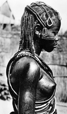 "Africa | ""Danseuse de la Région de Mobaye - Moyen Congo - AEF"" 