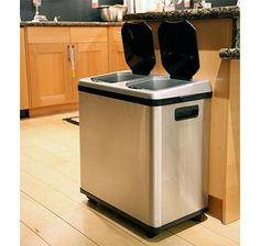 Keep your hands off your trash with this innovative touch-free trash can from iTouchless.