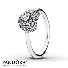 Pandora Heart Ring Clear CZ Sterling Silver.... Agh it's beautiful