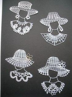 www.motanicko.estranky.cz - Fotoalbum - Paličkování - Paličkování Crochet Santa, Crochet Lace, Crochet Stitches, Nail String Art, Bobbin Lace Patterns, Lacemaking, Lace Heart, Point Lace, Lace Jewelry