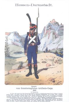 Vol 01 - Pl 35 - Hessen-Darmstadt. Military Art, Military History, Military Uniforms, Empire, War Of 1812, French Revolution, Napoleonic Wars, Old Things, German