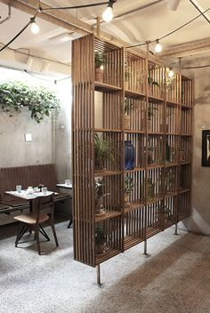 restaurant concept My Stay at Hotel in Copenhagen My Stay at Hotel in Copenhagen Living Room Partition Design, Room Partition Designs, Room Deviders, Diy Home Decor, Room Decor, Office Interiors, Home Interior Design, Restaurant Restaurant, Restaurant Concept