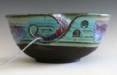LARGE Yarn Bowl handmade stoneware potteryhandmade by ocpottery, $40.00