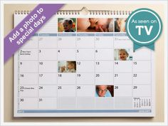 Family Planner Calendar - Design Your Photo Calendar  Its much nicer than having lots of photos in frames hanging around.