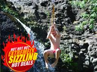 Zipline at Casela, Mauritius for the Shopping Fiesta 2012 at hot prices