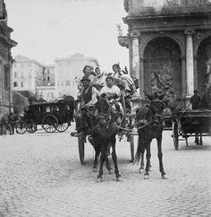 Fontana dell'Acqua Felice in piazza San Bernardo 1890