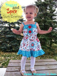 Sugar & Spice Sundress #rileyblakedesigns #thequiltedfish #sugarandspice #dresstutorial #cuttingcorners