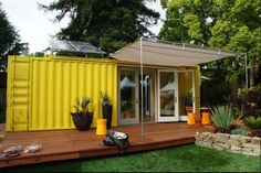 HyBrid Architecture Sunset Idea House using recycled cargo containers