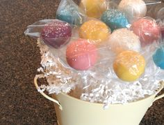One of our cake pop arrangements.    www.sweetiepopsbakery.com