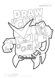 Virus skin Brawl Stars coloring page - Draw it cute Profile Wallpaper, Star Wallpaper, 8 Bit, Super Easy Drawings, Star Coloring Pages, Best Weave, Cool Kids, Sketches, Stars