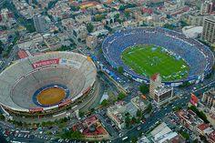 Plaza de Toros at left, Mexico City