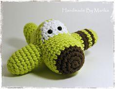 Amigurumi Airplane Crochet Toy Baby Rattle