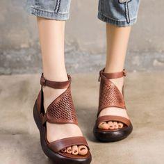Compre Verano De Las Nuevas Mujeres Sandalias Sandalias Zapatos De La Cuña Del Diseñador De Moda De Gran Tamaño Con Boca De Los Pescados De Las