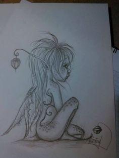 un trait de fée follette. Fantasy Drawings, Fairy Drawings, Sketches, Drawings, Doodle Art, Art Drawings Sketches Pencil, Drawing Sketches, Fairy Art, Fairy Sketch
