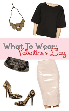 What To Wear: Valentine's Day Outfit #leopard #leather